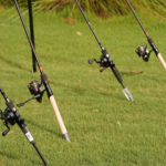 Fishing gear ready for use at the Bass and Birdies tournament
