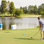 Teeing off at Bass and Birdies