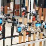 Rods and reels on display