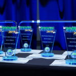 New Product Showcase trophies