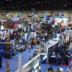 Aerial view of the show floor
