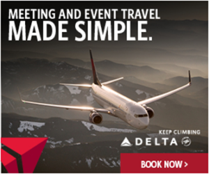 Button for Delta air travel discounts